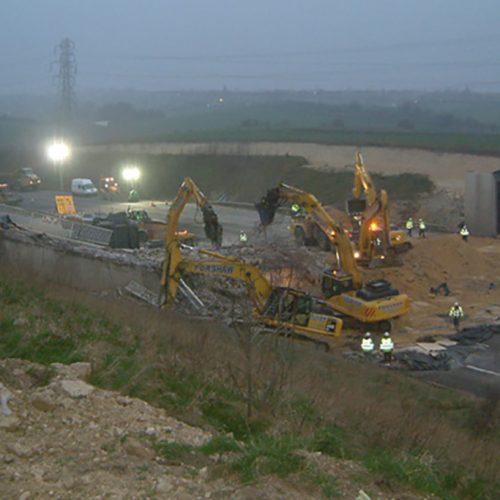 A1 Bridges Demolition, Yorkshire